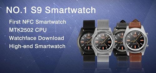 NO.1 bringt mit der S9 seine erste Smartwatch mit NFC raus