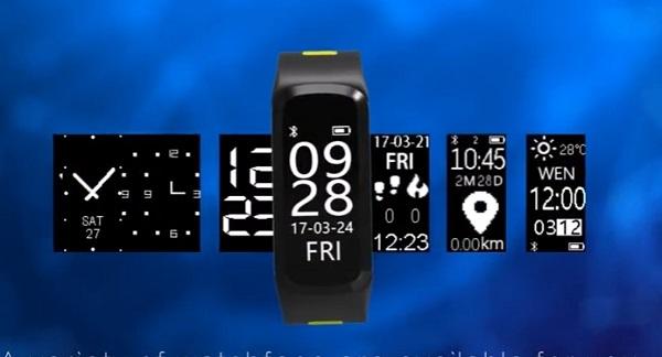 NO.1 F4 Smartband mit Multi Sport Mode, IP68 Zertifizierung und weiteren Features.