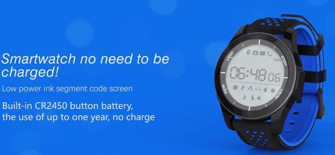 NO.1 F3 - Neue Wasserdichte Smartwatch die mit einer Laufzeit von 1 Jahr wirbt!