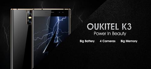 Oukitel K3 - Dual gebogenes symmetrisches Design mit 4 Kameras und großem Akku