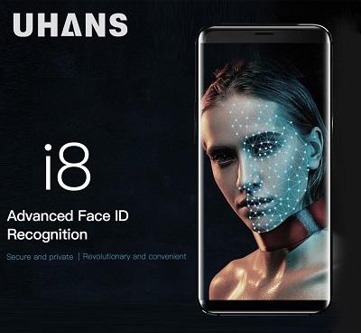 Das Uhans i8 ist nicht nur nahezu randlos, es kommt auch mit Face ID!