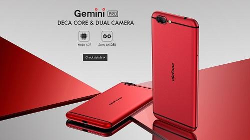 Ulefone startet den Vorverkauf für das Gemini Pro am 31 Mai - Helio X27 - Sony IMX258