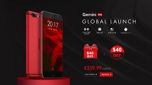 Ulefone Gemini Pro offiziell im Vorverkauf für 260€ erhältlich.