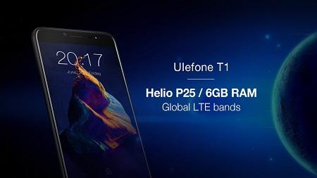 Ulefone T1 unterstützt 25 Frequenzen weltweit - Helio P25 und 6GB RAM