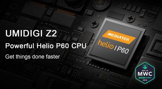 UMiDIGI Z2 mit dem brandneuen Mediatek Helio P60!
