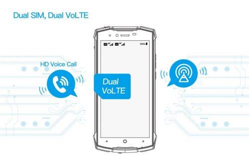 Dual SIM, Dual VoLTE - Doogee S55 Lite