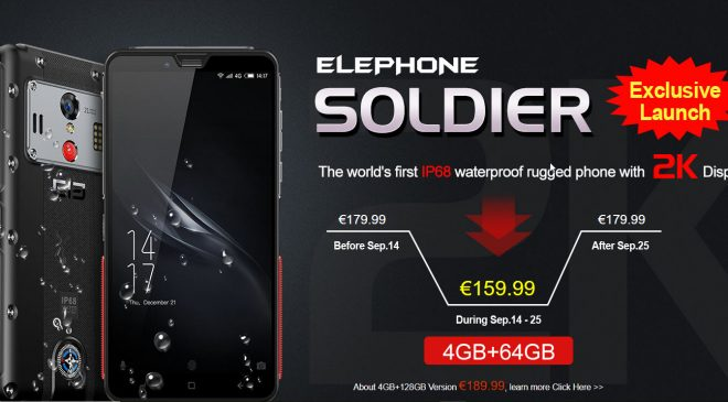 EFOX-SHOP launched exklusiv neues Outdoor Smartphone von Elephone – Elephone Soldier
