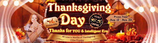 eFox-Shop feiert Thanksgiving – Viele Rabatte und Schnäppchen zum Erntedankfest bis zum 23.11.2018
