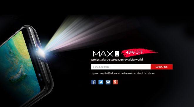 Blackview MAX1 mit Samsung AMOLED und integriertem Beamer.