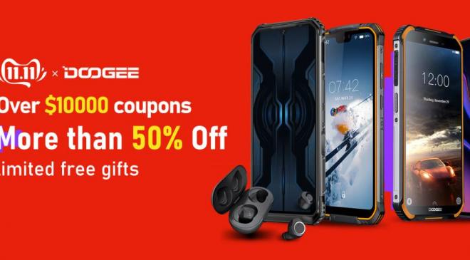 Doogee Smartphones – Zum Double 11 Preisnachlass auf @Aliexpress