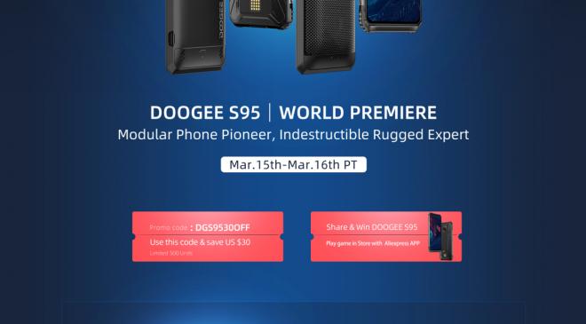 DOOGEE S95 – Der Verkauf startet für kurze Zeit mit $30USD Nachlass auf mehr RAM