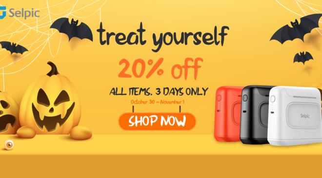 Selpic bietet pauschal 20% Rabatt auf alle seine Produkte für Halloween an